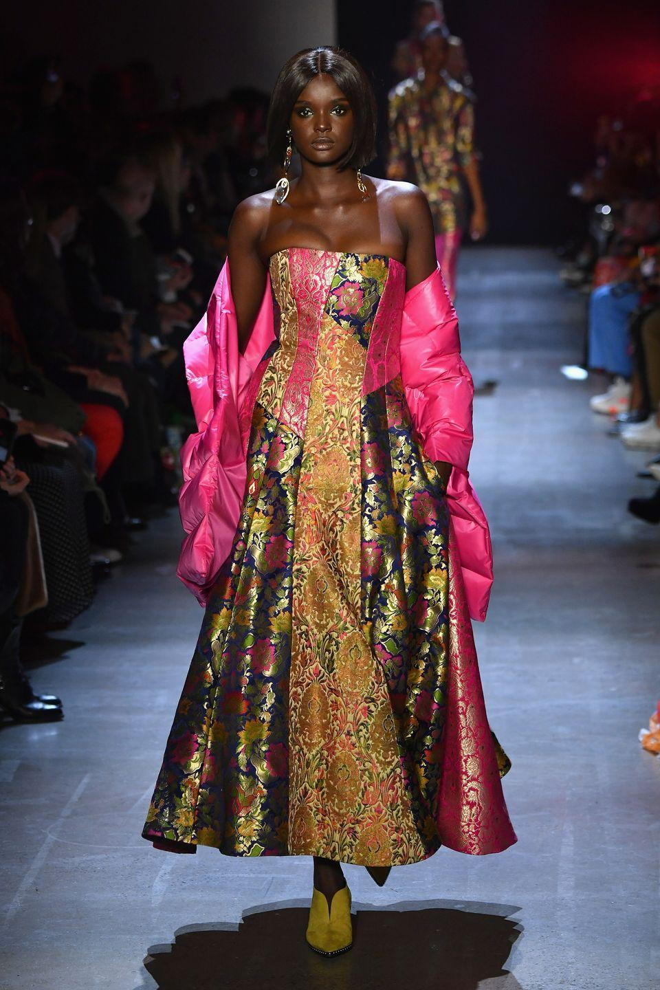 "<p>Duckie made her <a href=""https://www.independent.co.uk/life-style/fashion/duckie-thot-instagram-loreal-paris-ambassador-model-who-how-a8553931.html"" rel=""nofollow noopener"" target=""_blank"" data-ylk=""slk:runway debut"" class=""link rapid-noclick-resp"">runway debut</a> at the Yeezy spring/summer 2017 show. Imagine that being your first gig?! She's appeared in major campaigns for Moschino and Oscar de la Renta, but got her start on <em>Australia's Next Top Model</em>, when she finished as one of the top three contestants on the show. </p>"