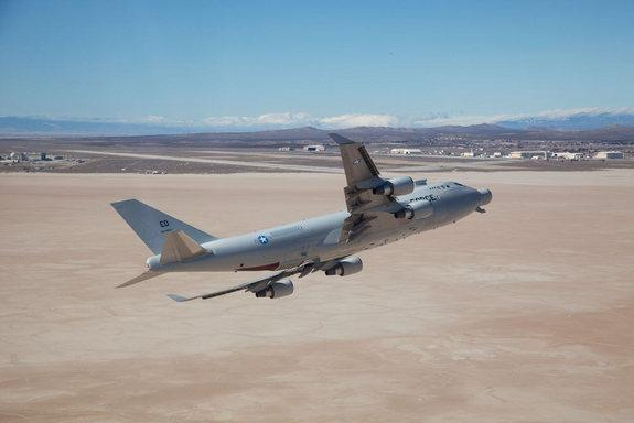 The U.S. Air Force's Airbone Laser Test Bed, designed to shoot down missiles with lasers, made its last flight on Feb. 14, 2012 before being mothballed.