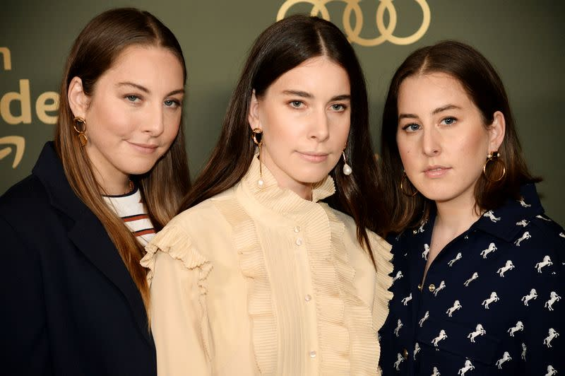 FILE PHOTO: HAIM poses at the Amazon Prime Video after party in Beverly Hills