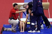 """<p>Several women's gymnastics competitors suffered due to the vault being set two inches too low during the first two rotations of the competition. <a href=""""https://www.chicagotribune.com/news/ct-xpm-2000-09-22-0009220229-story.html"""" rel=""""nofollow noopener"""" target=""""_blank"""" data-ylk=""""slk:US Gymnastics President Bob Colarossi called it an &quot;unthinkable error,&quot;"""" class=""""link rapid-noclick-resp"""">US Gymnastics President Bob Colarossi called it an """"unthinkable error,"""" </a>and others agreed it was one of the most egregious mistakes in the history of the Olympics. </p>"""
