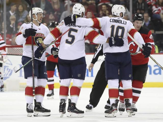 Panthers rally from 3 goals down, beat Devils 6-4