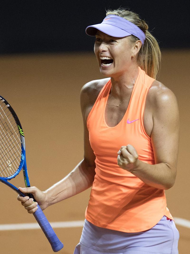Sharapova's comeback continued with a routine win over Makarova (AFP/Getty)
