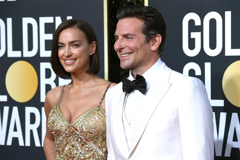 Distant: Irina Shayk and Bradley Cooper (Frazer Harrison/Getty Images)
