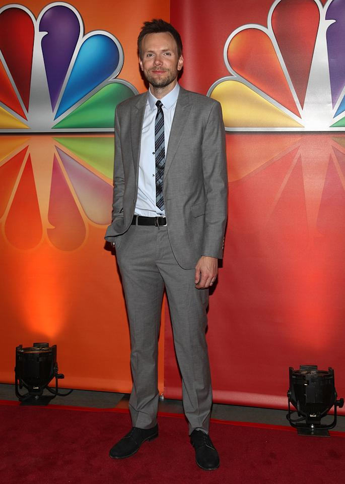 "Joel McHale (""Community"") attends NBC's 2012 Upfront Presentation at 51st Street on May 14, 2012 in New York City."