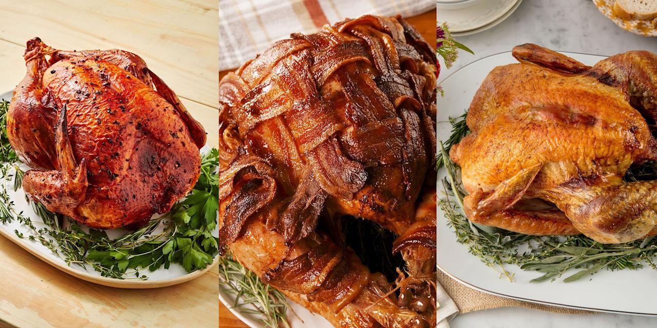 """<p>We get it, there's a lot of pressure when it comes to cooking the <a href=""""https://www.delish.com/uk/cooking/recipes/a29557866/best-oven-roast-turkey-recipe/"""" target=""""_blank"""">turkey</a>, and rightly so! It's basically what everyone looks forward to the most (unless you're veggie). With that in mind, we wanted to make things easier for you by putting together a collection of the very best <a href=""""https://www.delish.com/uk/christmas/"""" target=""""_blank"""">Christmas</a> turkey recipes. From more traditional herb roasted turkeys to strawberry basil turkey! These recipes will help ease that Xmas stress. Happy roasting!</p>"""
