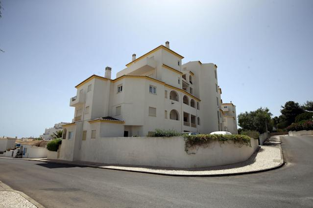 The apartment block in Praia Da Luz, Portugal, where Madeleine McCann went missing in 2007 (PA)