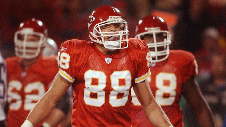 Mandatory Credit: Photo by Orlin Wagner/AP/Shutterstock (6404909c)GONZALEZ Kansas City Chiefs receiver Tony Gonzalez (88) pleads for a call from officials during the second quarter of their game against the New England Patriots at Arrowhead Stadium, in Kansas City, MoPATRIOTS CHIEFS, KANSAS CITY, USA.