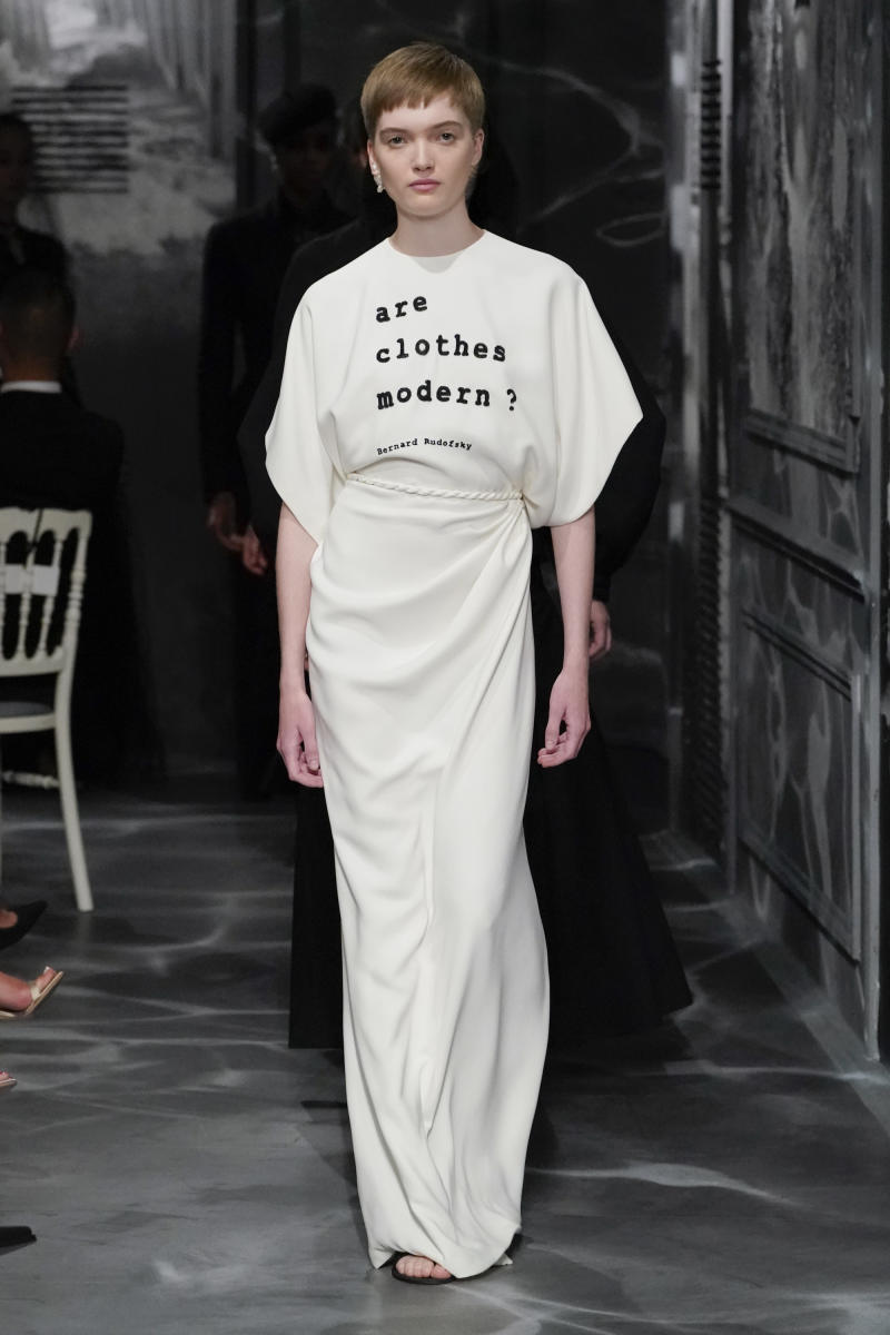 PARIS, FRANCE - JULY 01: Ruth Bell walks the runway during the Christian Dior Haute Couture Fall/Winter 2019 2020 show as part of Paris Fashion Week on July 01, 2019 in Paris, France. (Photo by Peter White/Getty Images)