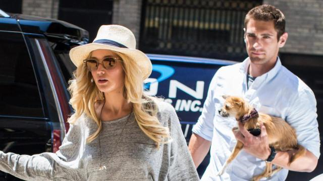 "It's safe to say Jennifer Lawrence's bodyguard is <em> very</em> easy on the eyes. Although the  <em>Hunger Games</em> star showed off her legs in a pair of super-short denim shorts in New York City on Wednesday, it's actually her genetically blessed bodyguard that stole the show for being, well ...  <em>hot</em>. Check him out managing to look even more adorable carrying J. Law's beloved dog, Pippi.    Splash News    <strong>PHOTOS: Hollywood's Sexiest Shirtless Men</strong> And just in case you think that's just him on a good day, check him out in NYC on Thursday, looking like he stepped straight out of a cologne ad.    Splash News   Not surprisingly, the Internet has already noticed.   Jennifer Lawrence's bodyguard has me all like ""Jennifer who?"" pic.twitter.com/FCHuw73tl5— jason (@garmonbozia) June 11, 2015      Can we talk about Jennifer Lawrence's bodyguard because...DAYUM. #JenniferLawrence #mybodyguard #MyBodyIsReady pic.twitter.com/SjLy0WDqm9— AwardsWatch (@awards_watch) May 20, 2015      Jennifer Lawrence and her (ridiculously hot) bodyguard pic.twitter.com/8f84j94h8L— Hannah Ayonon (@hannahbanaana) February 23, 2015    This actually isn't the first time the 24-year-old actress has turned heads with a swoon-worthy bodyguard. In December, plenty of people took notice of Justin Riblet, when he was snapped by paparazzi escorting her through LAX.   Justin Riblet! Yasss! #yesgawd #JenniferLawrence #sexybodyguard @Beyonce needs him to replace ole Julius #noshade pic.twitter.com/3rZijtERNu— Miss Anjela (@missannji) December 22, 2014    Well here's one sure way for celebs to take some of the constant attention off of them -- hire a hot bodyguard!  <strong>WATCH: Jennifer Lawrence Has Terrible Taste In Men</strong> Check out J. Law in the epic first trailer for  <em>The Hunger Games: Mockingjay - Part 2</em> below:"