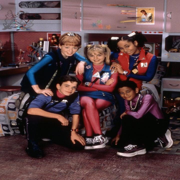 Zenon and her friends at the station