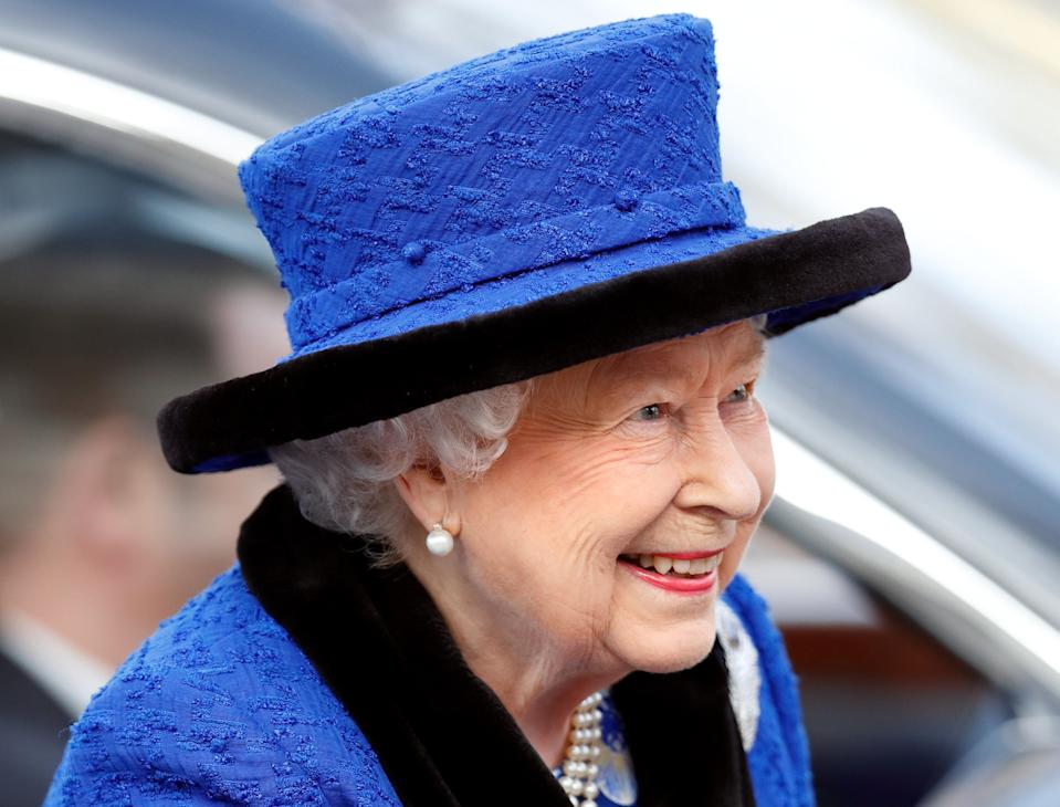 LONDON, UNITED KINGDOM - FEBRUARY 22: (EMBARGOED FOR PUBLICATION IN UK NEWSPAPERS UNTIL 24 HOURS AFTER CREATE DATE AND TIME) Queen Elizabeth II, Patron, The Royal Army Chaplains' Department, attends a service to celebrate the centenary of the granting by King George V of the prefix 'Royal' to the department, at The Guards' Chapel, Wellington Barracks on February 22, 2019 in London, England. The Army Chaplains' Department was formed in 1796 under the first Chaplain-General, the Reverend John Gamble. On 22nd February 1919, The Queen's grandfather, King George V, bestowed their Royal title in recognition of its outstanding service and sacrifice during the First World War. (Photo by Max Mumby/Indigo/Getty Images)