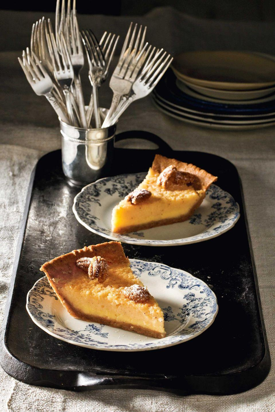 """<p>Plan ahead: This easy dough can be frozen for up to three months.</p><p><strong><a href=""""https://www.countryliving.com/food-drinks/recipes/a4249/buttermilk-pie-pecan-crust-recipe-clx1013/"""" rel=""""nofollow noopener"""" target=""""_blank"""" data-ylk=""""slk:Get the recipe"""" class=""""link rapid-noclick-resp"""">Get the recipe</a>.</strong></p>"""