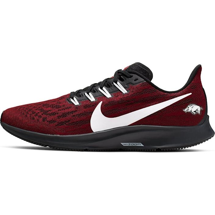 Men's Nike Cardinal/White Arkansas Razorbacks Air Zoom Pegasus 36 Sneakers