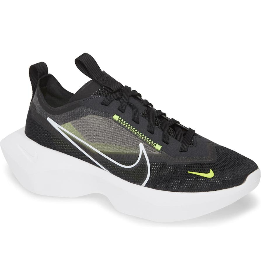 """<p>These <a href=""""https://www.popsugar.com/buy/Nike-Vista-Lite-Sneakers-545215?p_name=Nike%20Vista%20Lite%20Sneakers&retailer=shop.nordstrom.com&pid=545215&price=100&evar1=fit%3Aus&evar9=45756129&evar98=https%3A%2F%2Fwww.popsugar.com%2Ffitness%2Fphoto-gallery%2F45756129%2Fimage%2F47166178%2FNike-Vista-Lite-Sneaker&list1=shopping%2Cshoes%2Csneakers%2Crunning%20shoes%2Crunning&prop13=mobile&pdata=1"""" rel=""""nofollow"""" data-shoppable-link=""""1"""" target=""""_blank"""" class=""""ga-track"""" data-ga-category=""""Related"""" data-ga-label=""""https://shop.nordstrom.com/s/nike-vista-lite-sneaker-women/5364321/full?origin=category-personalizedsort&amp;breadcrumb=Home%2FWomen%2FShoes%2FSneakers%20%26%20Athletic&amp;fashioncolor=Black&amp;color=black%2F%20white%2F%20lemon%20venom"""" data-ga-action=""""In-Line Links"""">Nike Vista Lite Sneakers</a> ($100) manage to be both chunky and breathable.</p>"""