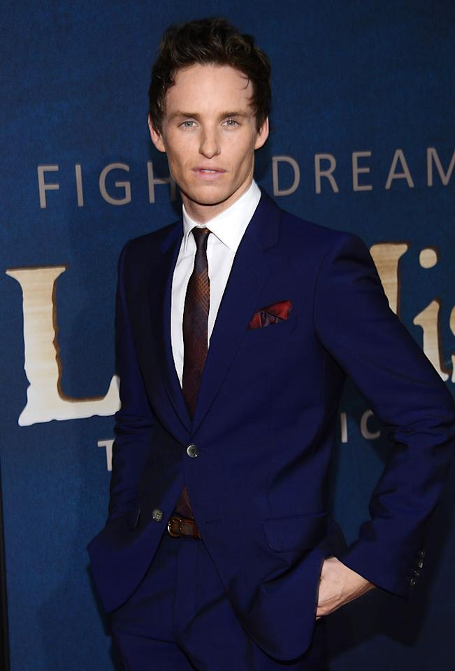 NEW YORK, NY - DECEMBER 10: Eddie Redmayne attends the 'Les Miserables' New York premiere at Ziegfeld Theater on December 10, 2012 in New York City. (Photo by Larry Busacca/Getty Images)