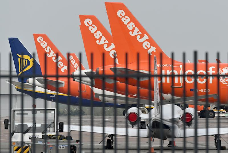 BRITAIN-HEALTH-VIRUS-TRANSPORT-AVIATION-EASYJET