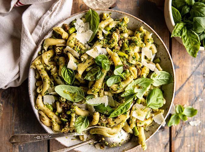 """<h2>23. Lemon, Basil, Asparagus and Sausage Pasta</h2> <p>Hello, spring. We'll meet you on the deck with a bottle of pinot grigio.</p> <p><a class=""""link rapid-noclick-resp"""" href=""""https://www.halfbakedharvest.com/one-pot-lemon-basil-asparagus-and-sausage-pasta/"""" rel=""""nofollow noopener"""" target=""""_blank"""" data-ylk=""""slk:Get the recipe"""">Get the recipe</a></p>"""
