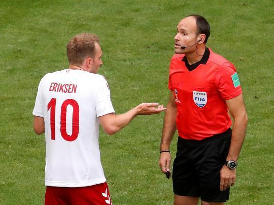 World Cup 2018: Christian Eriksen questions the use of VAR after Denmark failed to receive a free-kick