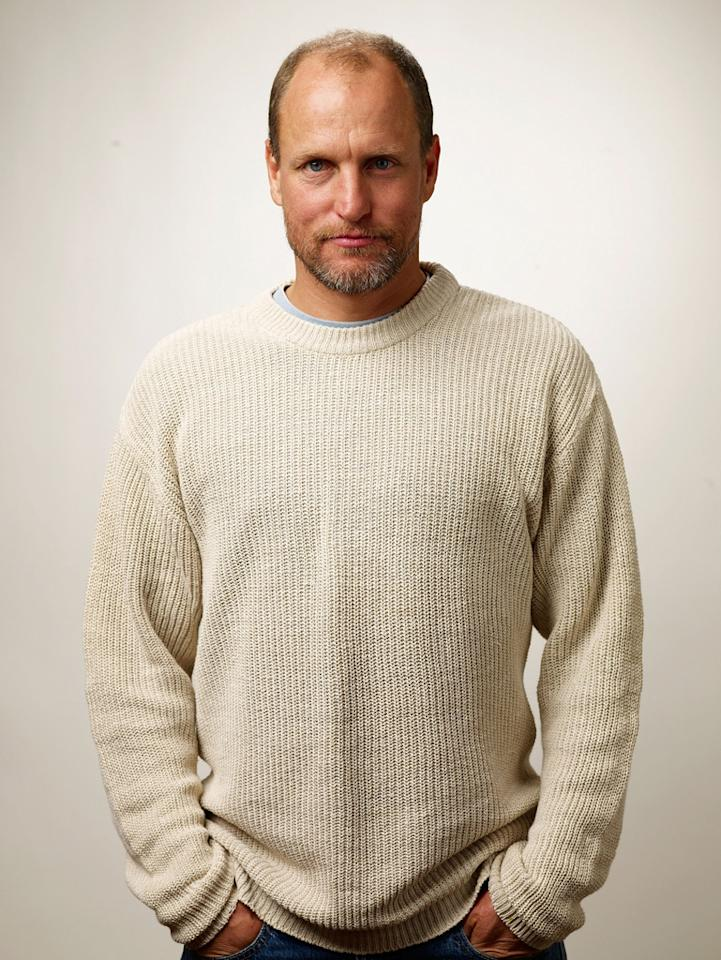 """<a href=""""http://movies.yahoo.com/movie/contributor/1800018911"""">Woody Harrelson</a> at the Sundance Film Festival portrait session for """"The Messenger"""" - 01/21/2009"""