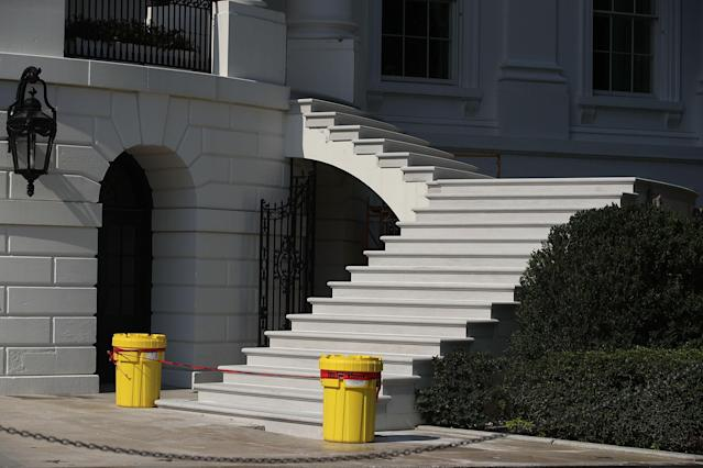 <p>The new South Portico steps of the White House is seen Aug.22, 2017 in Washington. (Photo: Alex Wong/Getty Images) </p>