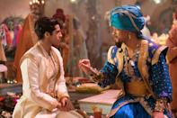 """With jokes about <a href=""""https://uk.movies.yahoo.com/aladdin-behind-the-scenes-secrets-revealed-by-films-vfx-supervisor-102934358.html"""" data-ylk=""""slk:Will Smith's genie;outcm:mb_qualified_link;_E:mb_qualified_link;ct:story;"""" class=""""link rapid-noclick-resp yahoo-link"""">Will Smith's genie</a> circulating on social media for weeks, people were intrigued to see how Guy Ritchie's take on the animated classic turned out. It went on to be a monster, billion-dollar hit.(Credit: Disney)"""