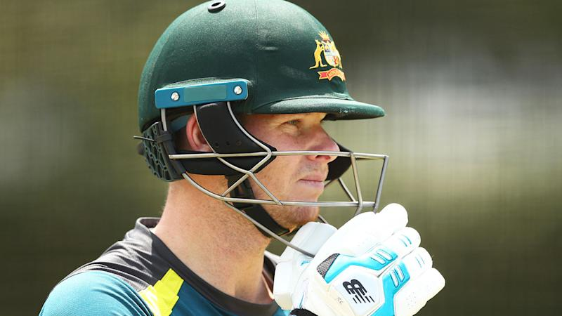 Pictured here, Steve Smith says Kane Williamson's batting is a lot like his own.