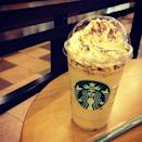<p>This is a major upgrade on the regular Coffee Frappuccino! It's layered with cookie and brownie crumbles, and it's topped with cream-cheese mousse and cocoa powder. It looks like it's totally worth the calories!</p>
