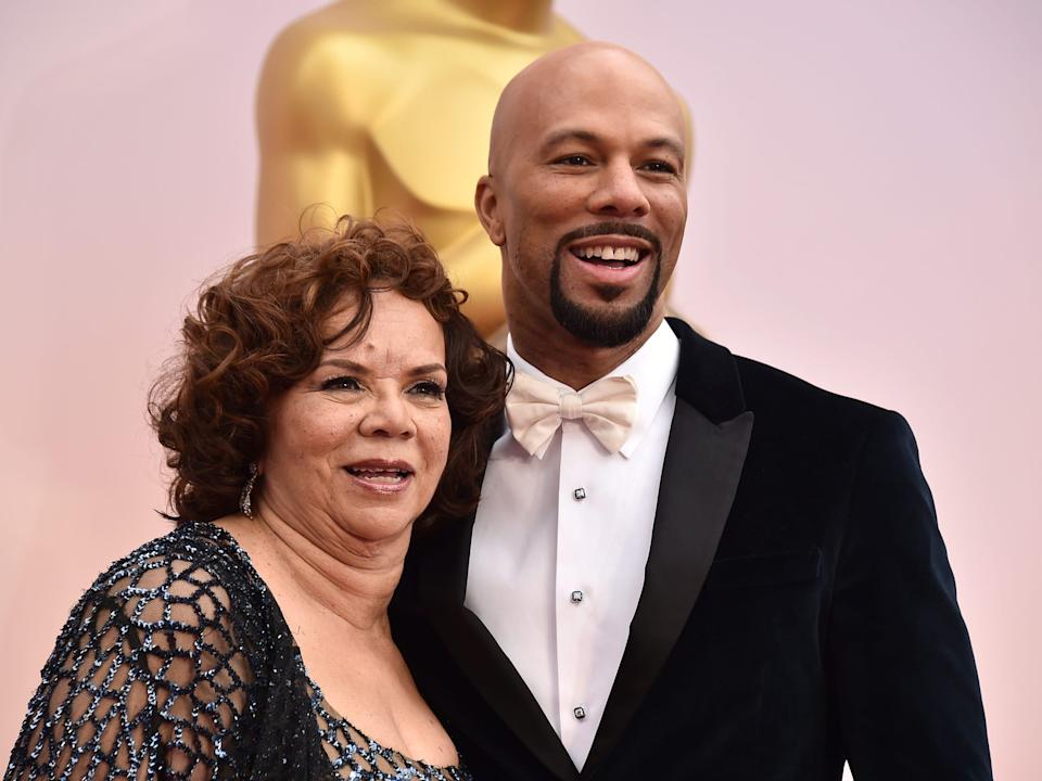 Common and his mother, Mahalia Hines, in 2015.