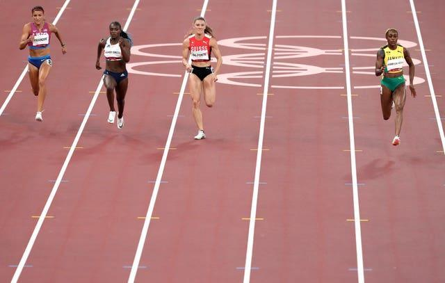 Dina Asher-Smith, second left, in action