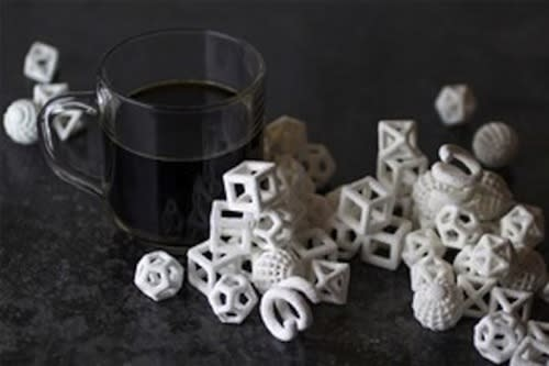 The ChefJet 3D printer is a countertop device that can print candies in a variety of shapes and flavors.