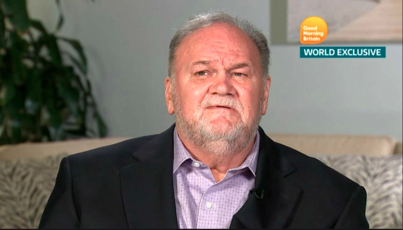 It's believed Meghan hasn't spoken to her dad since her wedding last year. Photo: Good Morning Britain
