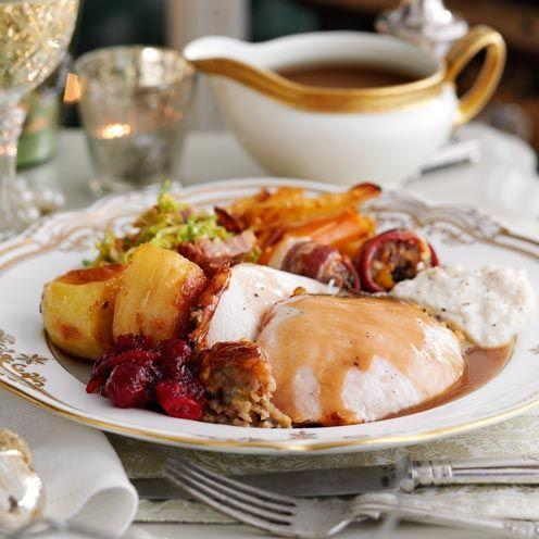 "<p>If turkey isn't your favourite, be sure to look out for our stunning alternative centrepieces. If you're trying this recipe, spend as much as you can on your turkey – you'll notice the difference in the taste.</p><p><strong>Recipe: <a href=""https://www.goodhousekeeping.com/uk/food/recipes/a536013/clementine-sage-turkey-madeira-gravy/"" rel=""nofollow noopener"" target=""_blank"" data-ylk=""slk:Clementine and sage turkey with Madeira gravy"" class=""link rapid-noclick-resp"">Clementine and sage turkey with Madeira gravy</a></strong></p>"