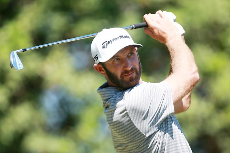 World number one Dustin Johnson, a winner at last month's WGC Mexico Championship, was on 205, one stroke off the lead (AFP Photo/Matt SULLIVAN)