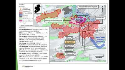 Exhibit 4. Location of Carrickittle Prospect at the Company's 100%-owned PG West Project, Ireland (CNW Group/Group Eleven Resources Corp.)