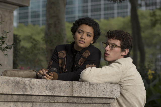 Kiersey Clemons as Mimi and Callum Turner as Thomas in <em>The Only Living Boy in New York.</em> (Photo: Niko Tavernise, Courtesy of Amazon Studios and Roadside Attractions)