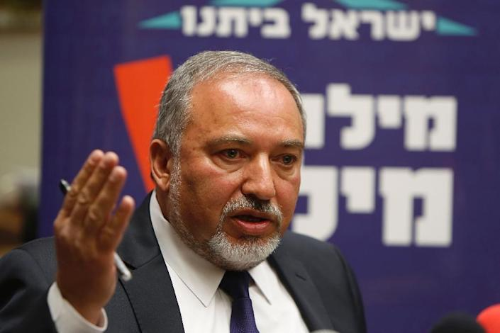 Avigdor Lieberman relinquished his position of foreign minister and withdrew his hardline anti-Arab Yisrael Beitenu from the coalition talks (AFP Photo/Gali Tibbon)