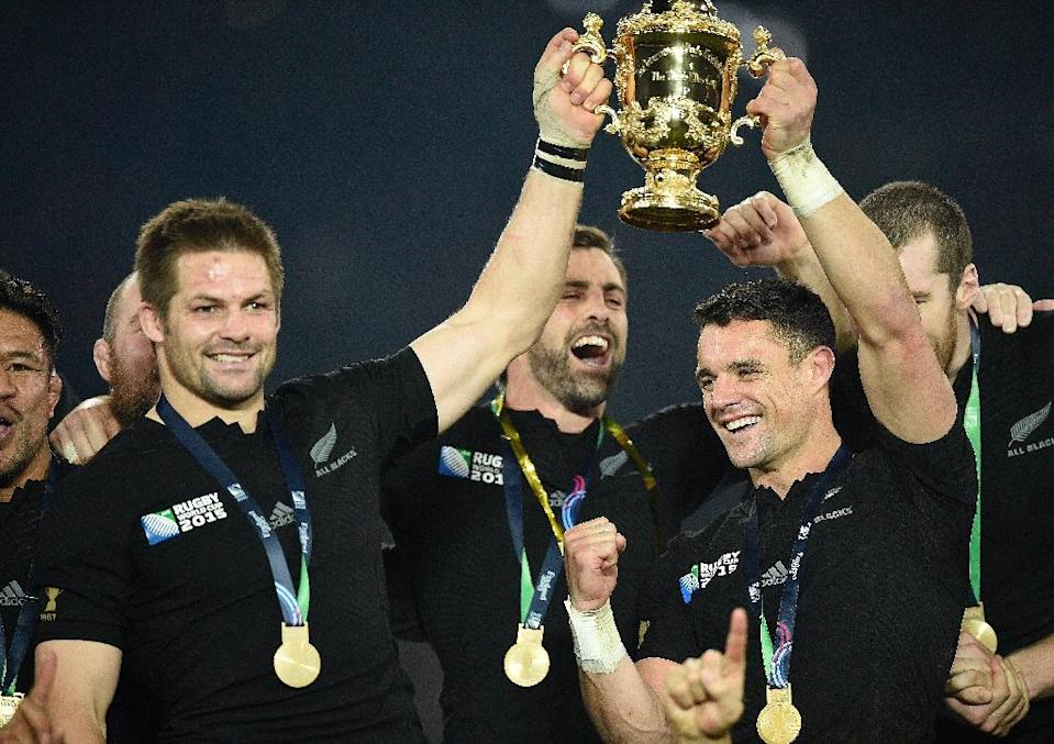 New Zealand were named Rugby Team of the Year after becoming the first nation to successfully defend the Rugby World Cup (AFP Photo/Martin Bureau)