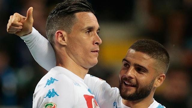 Napoli moved to within one point of second-placed Roma in Serie A after beating Inter 1-0 at San Siro.