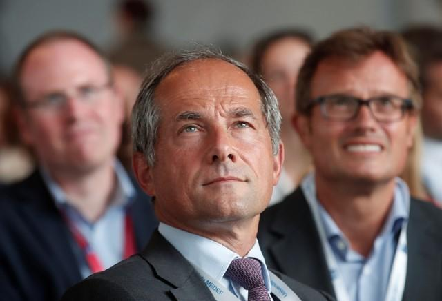 Frederic Oudea, Chief Executive Officer of French bank Societe Generale, attends the MEDEF union summer forum on the campus of the HEC School of Management in Jouy-en-Josas