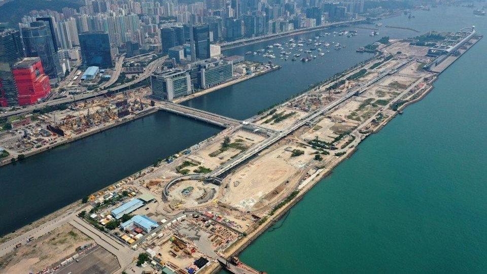 Aerial view of the former airport runway of Hong Kong's old Kai Tak airfield, which has been demolished to make way for residential buildings, a commercial centre, shopping centres and office towers, as of September 27, 2019. Photo: Martin Chan