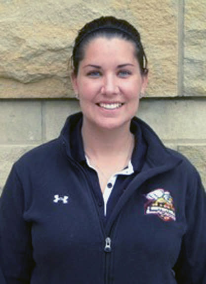 This undated photo provided by Seton Hill University shows women's college lacrosse coach Kristina Quigley. A tour bus carrying the Seton Hill women's lacrosse team to a game went off the Pennsylvania Turnpike on Saturday, March 16, 2013, and crashed into a tree. Authorities said the accident killed the driver and Kristina Quigley, who was about six months pregnant, and sent others to the hospital. (AP Photo/Courtesy Seton Hill University)