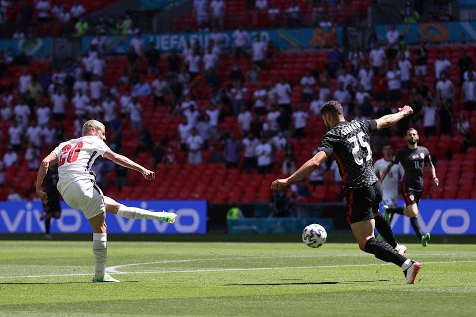 Phil Foden in action against Croatia (FA/Getty)