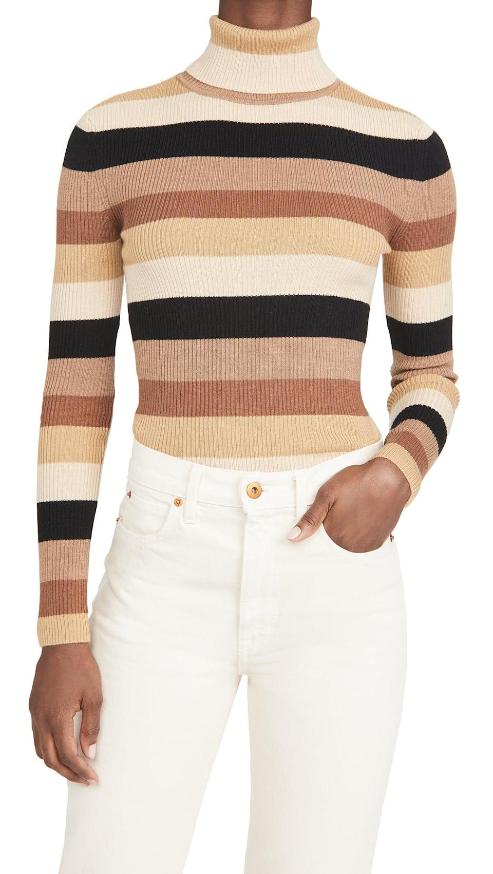 <p>When in doubt, go for this <span>STAUD Ken Sweater</span> ($185).</p>