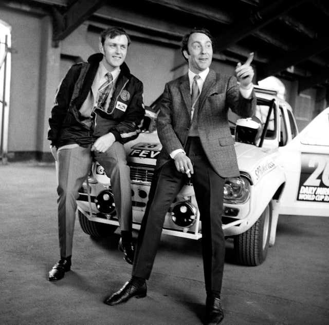 Jimmy Greaves and co-driver Tony Fall finished sixth in the London to Mexico World Cup rally