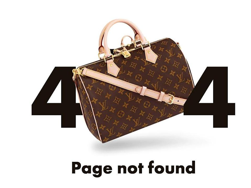 Louis Vuitton 404 Error Page - Jamaica Jumper