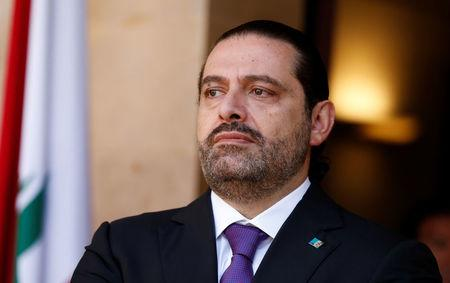 FILE PHOTO: Lebanon's Prime Minister Saad al-Hariri is seen at the governmental palace in Beirut, Lebanon October 24, 2017. REUTERS/Mohamed Azakir