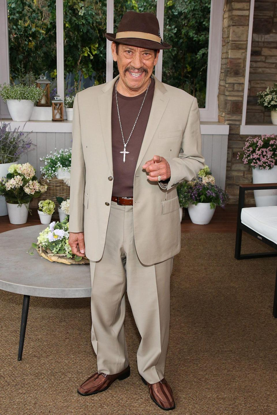 <p>Danny Trejo visits Hallmark Channel's<em> Home & Family</em> at Universal Studios Hollywood on Thursday. </p>