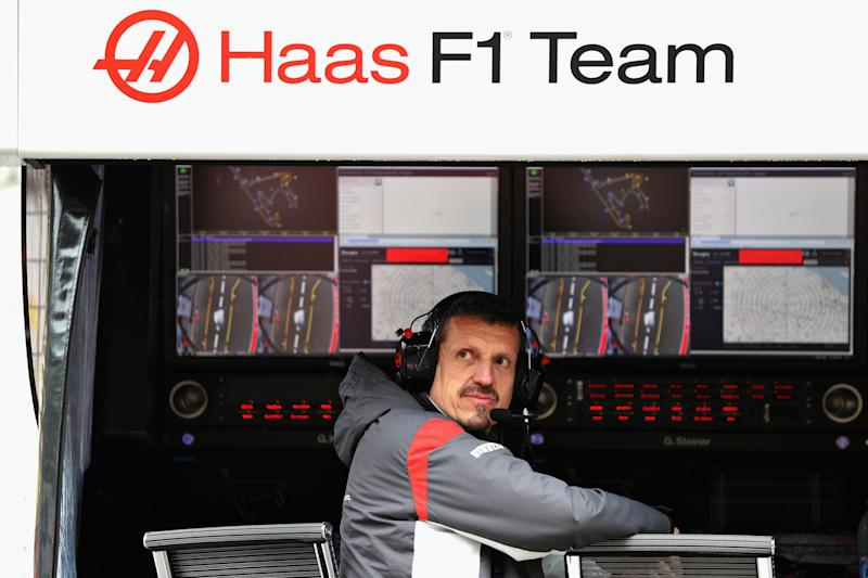 SHANGHAI, CHINA - APRIL 07: Haas F1 Team Principal Guenther Steiner sits on the pit wall gantry during practice for the Formula One Grand Prix of China at Shanghai International Circuit on April 7, 2017 in Shanghai, China. (Photo by Mark Thompson/Getty Images)