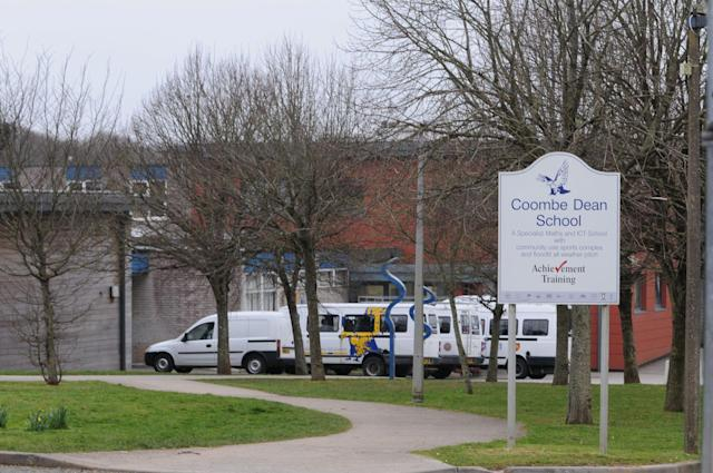 Coombe Dean Secondary School in Plymouth, where Mr Aggett is regularly treated as a guest. (SWNS)