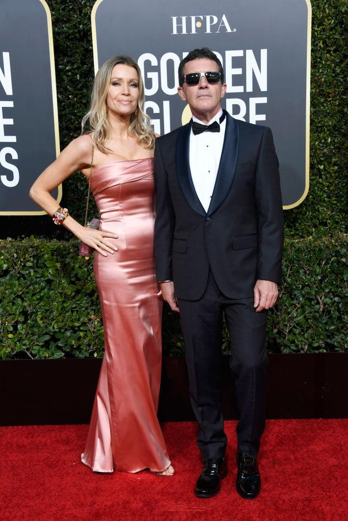 <p>Nicole Kimpel (L) and Antonio Banderas attend the 76th Annual Golden Globe Awards at the Beverly Hilton Hotel in Beverly Hills, Calif., on Jan. 6, 2019. (Photo: Getty Images) </p>